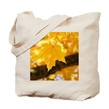 Autumn Leaves 53 Yellow Golden Glowing Le Tote Bag
