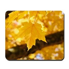 Autumn Leaves 53 Yellow Golden Glowing L Mousepad