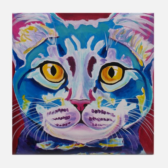 cat - mystery reboot Tile Coaster