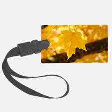 Autumn Leaves 53 Yellow Golden G Luggage Tag