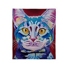 cat - mystery reboot Throw Blanket
