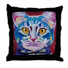 cat - mystery reboot Throw Pillow