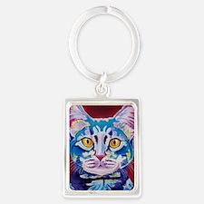 cat - mystery reboot Portrait Keychain