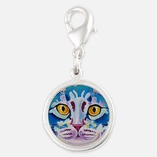 cat - mystery reboot Silver Round Charm