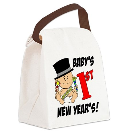 Babys First New Years Canvas Lunch Bag