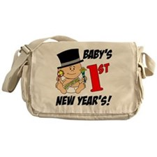 Babys First New Years Messenger Bag