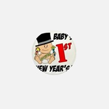 Babys First New Years Mini Button