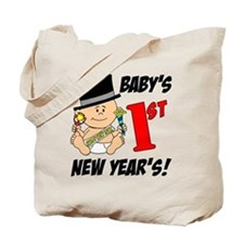 Babys First New Years Tote Bag