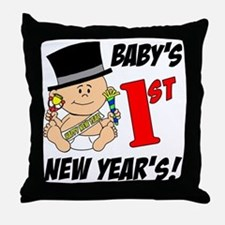 Babys First New Years Throw Pillow