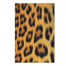 leopard skin Postcards (Package of 8)
