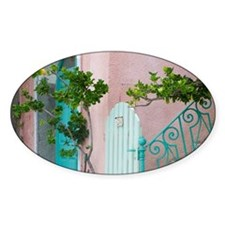Corsica. Entrance to house in fishi Decal