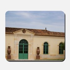 Urns and olive tree Pomerol Bordeaux Gir Mousepad