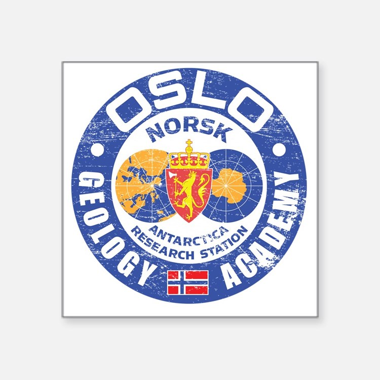 "NorweignCamp Square Sticker 3"" x 3"""