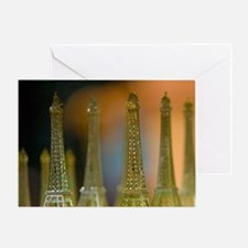 Eiffel Tower Area: Eiffel Tower Mini Greeting Card