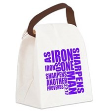 TypographyPurple Canvas Lunch Bag