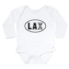 Lacrosse Lax Oval Long Sleeve Infant Bodysuit