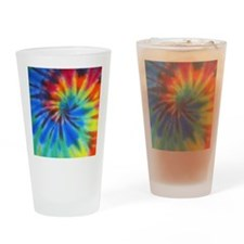 Btn Blue Spiral Drinking Glass