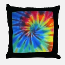 Btn Blue Spiral Throw Pillow