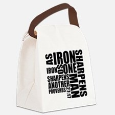 Iron Sharpens Iron Canvas Lunch Bag