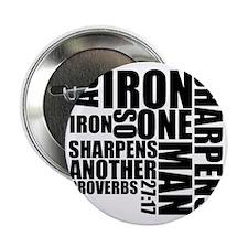 """Iron Sharpens Iron 2.25"""" Button"""