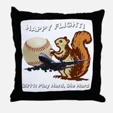 Happyflight2dark copy Throw Pillow