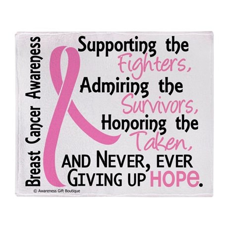 - ©Supporting Admiring Honoring BC Throw Blanket