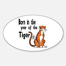 Tiger Oval Decal