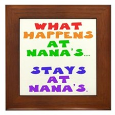 What happens at Nana's... Framed Tile