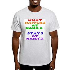 What happens at Nana's... Ash Grey T-Shirt