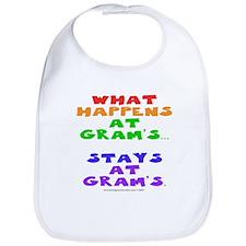 What happens at Gram's... Bib