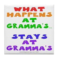 What happens at Gramma's... Tile Coaster