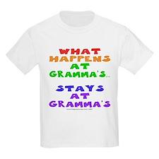 What happens at Gramma's... Kids T-Shirt
