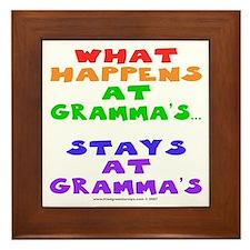 What happens at Gramma's... Framed Tile