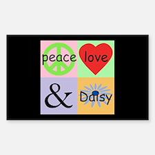 """""""Peace Love & Daisy"""" Rectangle Decal"""