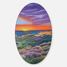 Butte-eful Sunset b shirt Sticker (Oval)