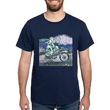Mountain Trail Riding (Blue) T-Shirt