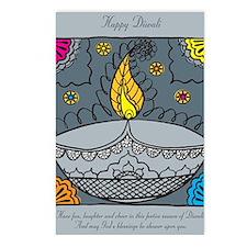 Diwali fun laughter Postcards (Package of 8)