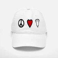 Lacrosse Peace Love Lax Baseball Baseball Cap