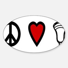 Lacrosse Peace Love Lax Decal
