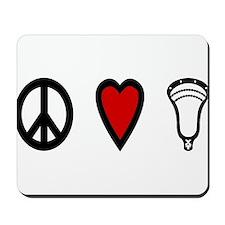 Lacrosse Peace Love Lax Mousepad