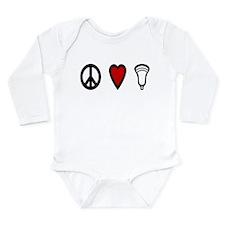 Lacrosse Peace Love Lax Long Sleeve Infant Bodysui