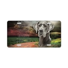 godmadedogs(tote) Aluminum License Plate