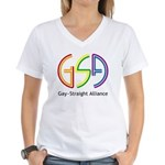 GSA Neon Women's V-Neck T-Shirt