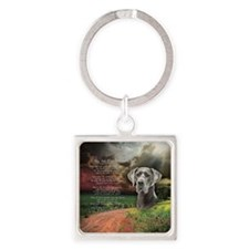 godmadedogs(button) Square Keychain