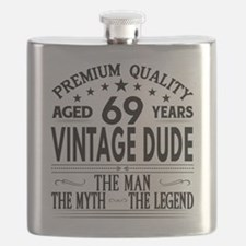 VINTAGE DUDE AGED 69 YEARS Flask