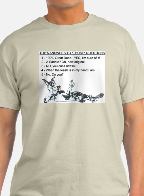 C H Top 5 Answers T-Shirt