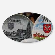 Regensburg. Typical German souvenir Decal