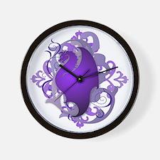 Urban Fantasy Purple Dragon Wall Clock