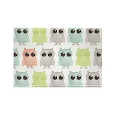 owlets_pattern_coinpurse Rectangle Magnet