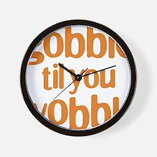 gobble til you wobble Wall Clock